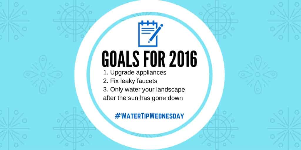 Water Tip Wednesday: Goals For 2016